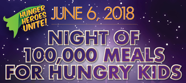 2018 Night of 100,000 Meals Banner